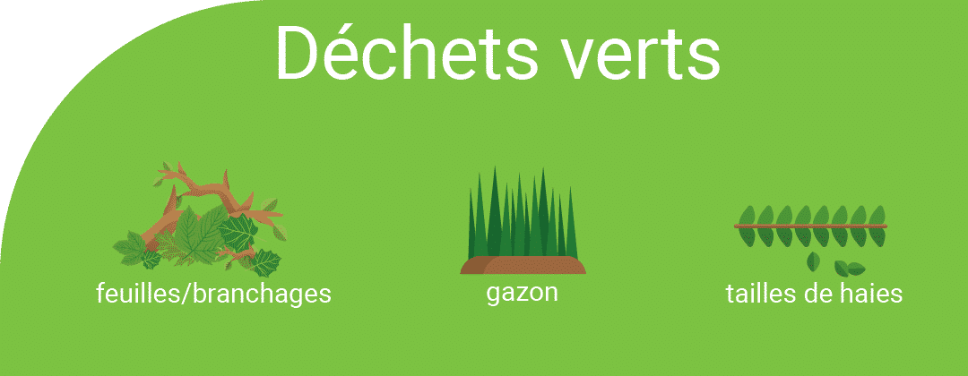 Déchets verts : gazon, feuille, branchages